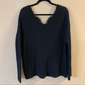 Vero moda black sweater with lace trim on the back